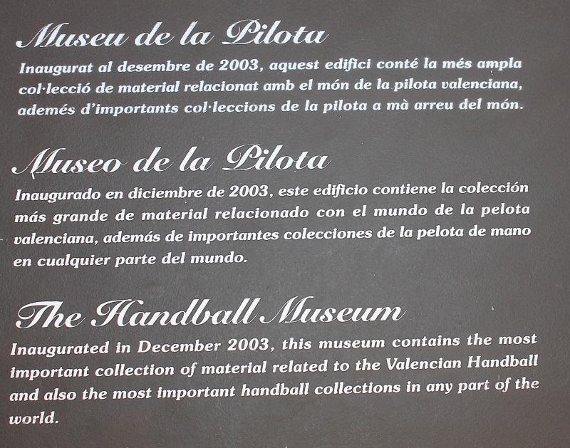 Museu de la pilota de genov s pacte territorial costera - El tiempo en la llosa de ranes ...